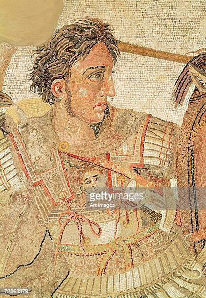 The Alexander Mosaic, depicting the Battle of Issus between Alexander the Great and Darius III in 333 BC