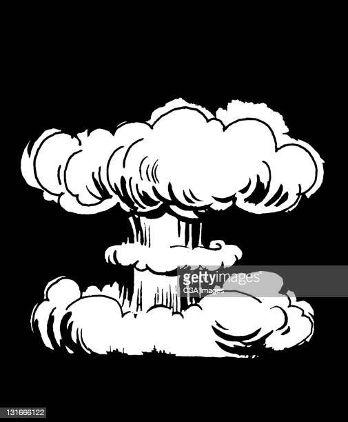 illustrations, cliparts, dessins animés et icônes de mushroom cloud - bombe atomique
