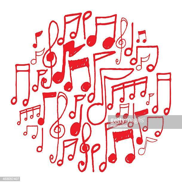 60点の音符のイラスト素材クリップアート素材マンガ素材アイコン