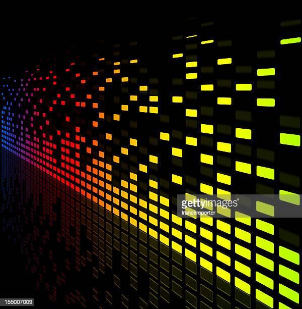 music equaliser blurred graph