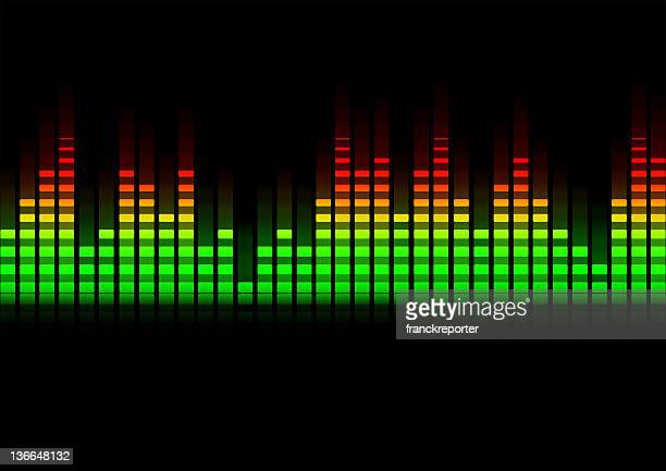 music equalizer blurred in black background
