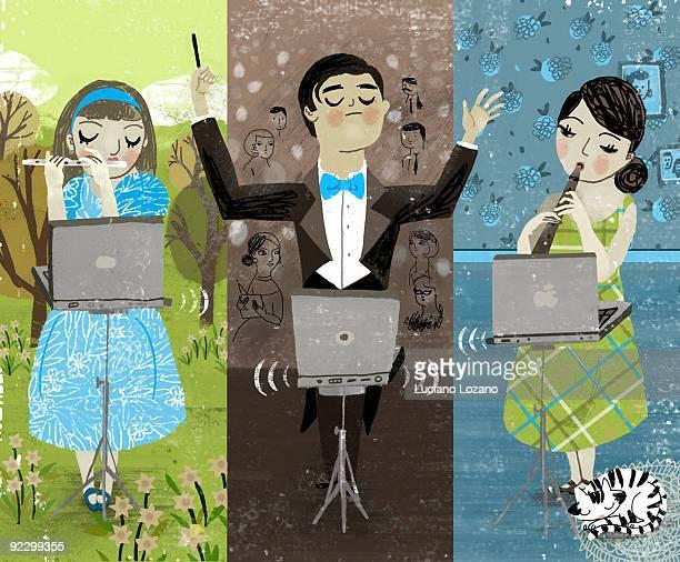 illustrations, cliparts, dessins animés et icônes de music - pupitre à musique