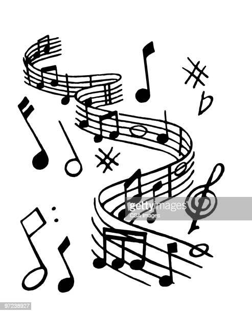music - music symbols stock illustrations, clip art, cartoons, & icons