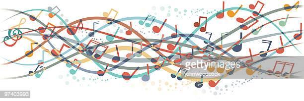 illustrazioni stock, clip art, cartoni animati e icone di tendenza di musica di - chiave di violino