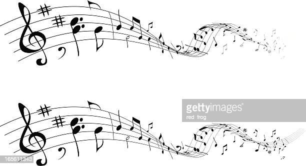 music that goes - treble clef stock illustrations, clip art, cartoons, & icons