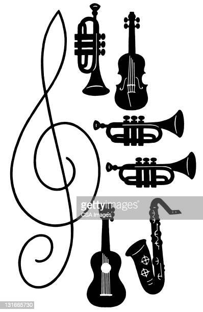 illustrations, cliparts, dessins animés et icônes de musical instruments - instrument de musique