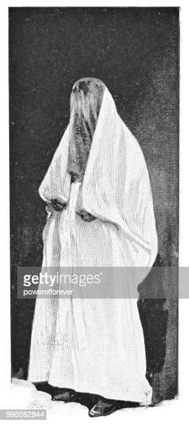 Muslim Woman in Jaffa, Israel - Ottoman Empire