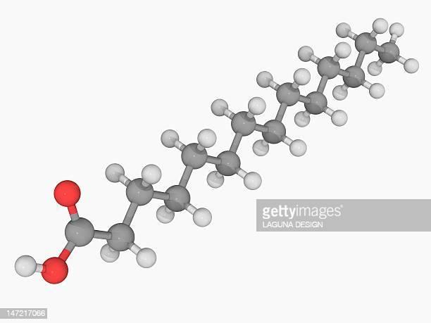 myristic acid molecule - coconut oil stock illustrations, clip art, cartoons, & icons