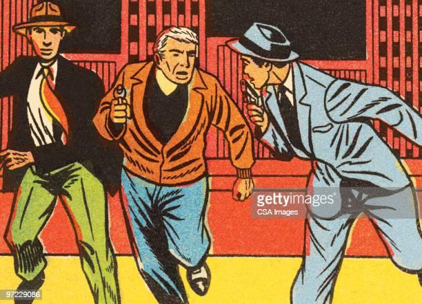 nabbed! - privateinvestigator stock illustrations