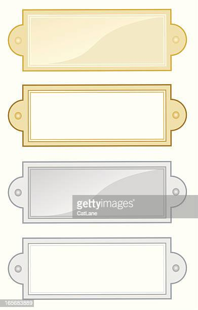 name plates - nameplate stock illustrations