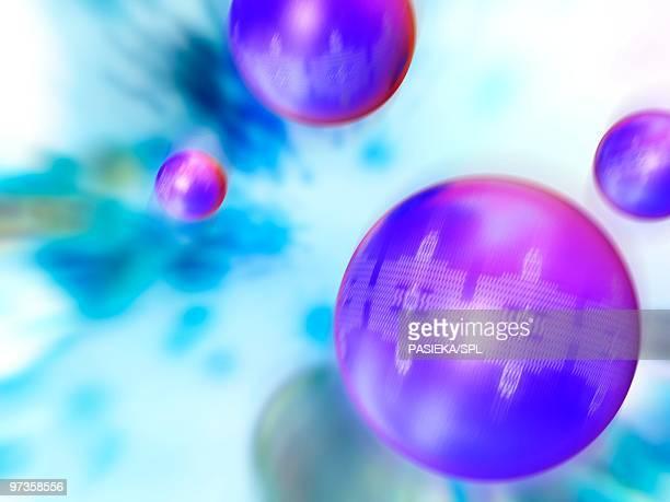 nanoparticles, artwork - nanotechnology stock illustrations, clip art, cartoons, & icons