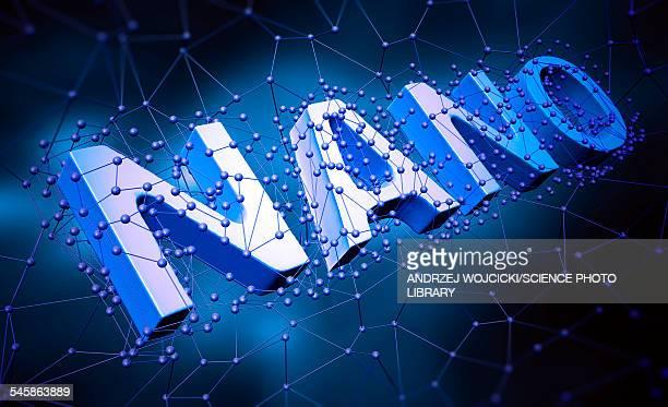 nanotechnology, illustration - capital letter stock illustrations