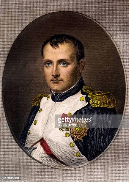 napolean bonaparte - portrait stock illustrations