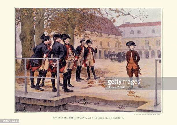 ilustraciones, imágenes clip art, dibujos animados e iconos de stock de napoleon bonaparte en la escuela, brienne-le-castillo - bullying escolar