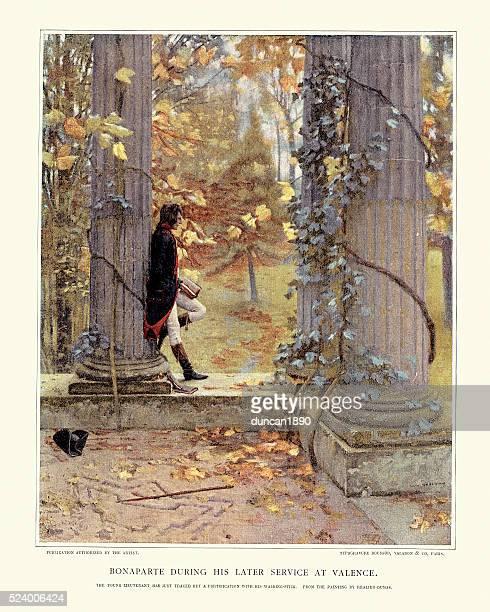 ilustrações, clipart, desenhos animados e ícones de napoleão bonaparte em valence - valencia spain