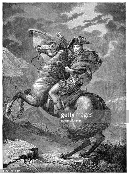 ジャック・ルイ・ダビデによるアルプスを渡るナポレオン - 19世紀 - 新古典派点のイラスト素材/クリップアート素材/マンガ素材/アイコン素材