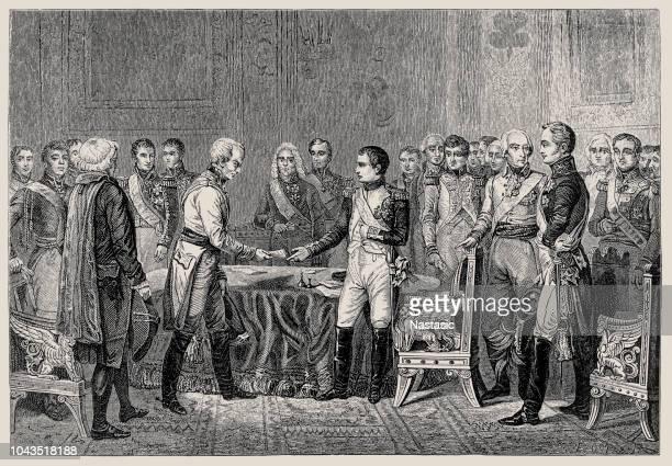 ナポレオン オーストリア大使ヴァンサン、カウント ・ ベネデッティで、議会のエアフルト 9 月-10 月 1808 の受信私 - 領事館点のイラスト素材/クリップアート素材/マンガ素材/アイコン素材