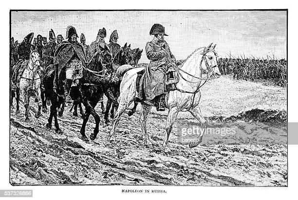 illustrations, cliparts, dessins animés et icônes de napoléon en russie - guerres napoléoniennes