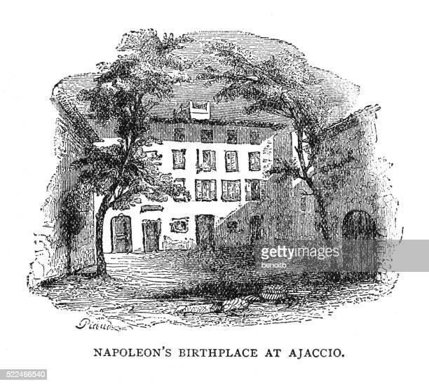 napoleon's birthplace - corsica stock illustrations, clip art, cartoons, & icons