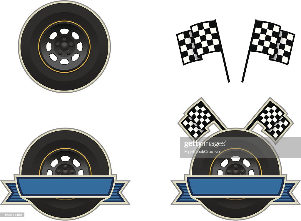 NascarWheel&Flag