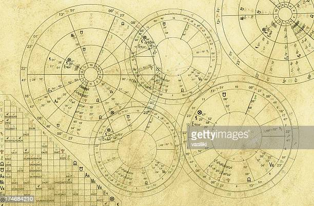 natal charts - wheel stock illustrations, clip art, cartoons, & icons
