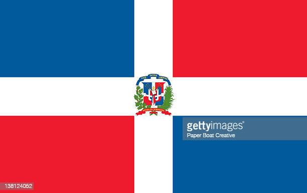 national flag of dominican republic - dominican republic flag stock illustrations