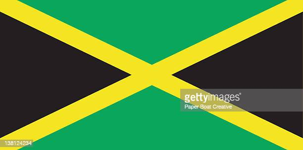 national flag of jamaica, illustrated - jamaican culture stock illustrations, clip art, cartoons, & icons