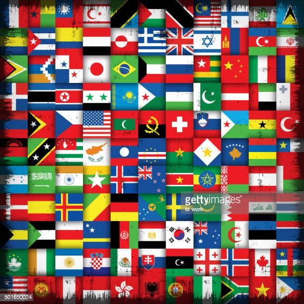 ilustrações, clipart, desenhos animados e ícones de bandeiras nacionais fundo - bandeira sul africana