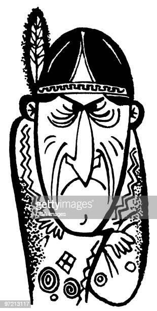 native american - stubborn stock illustrations, clip art, cartoons, & icons