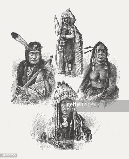 Native American leaders, after photographs by Alexander Gardner, published 1874