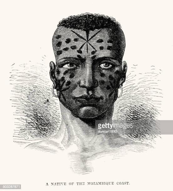 native of the mozambique coast - mozambique stock illustrations, clip art, cartoons, & icons