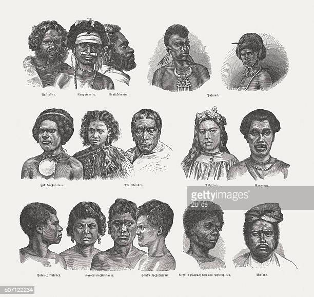 Native people of the South Sea Islands, published in 1882