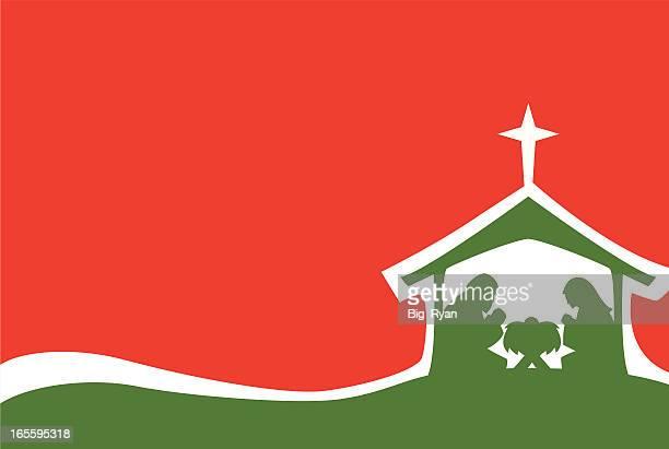 ilustraciones, imágenes clip art, dibujos animados e iconos de stock de nativity de flujo - nacimiento de navidad