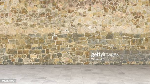 natural stone wall, 3d rendering - corridor stock illustrations, clip art, cartoons, & icons