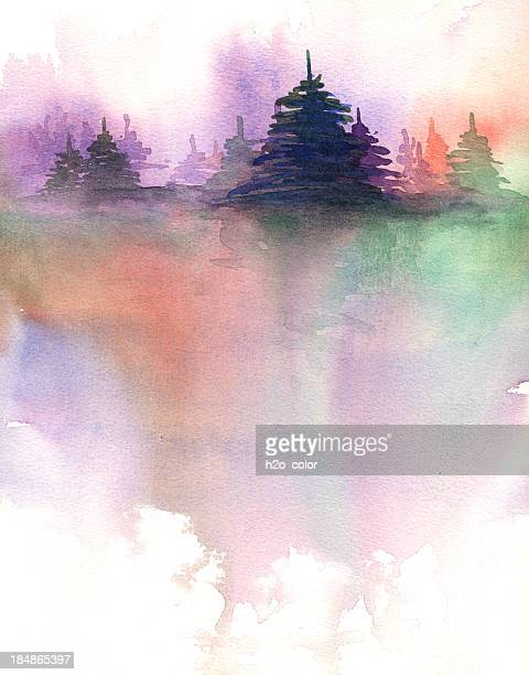 nature abstract - fog stock illustrations