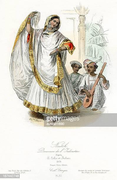 Nautch girl dancer traditional costume