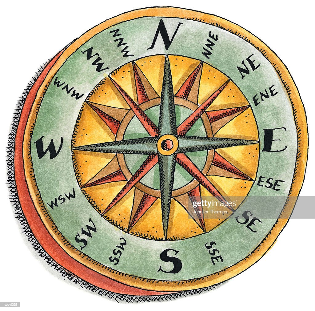 Nautical Compass : Stock Illustration