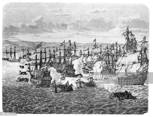 Naval battle during Charles Gustav ,17th century