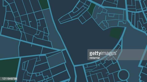 ナビゲーション都市マップgpsナビゲーション、夜。 - 副操縦士点のイラスト素材/クリップアート素材/マンガ素材/アイコン素材