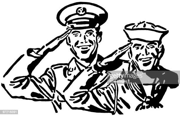 navy - army soldier stock illustrations