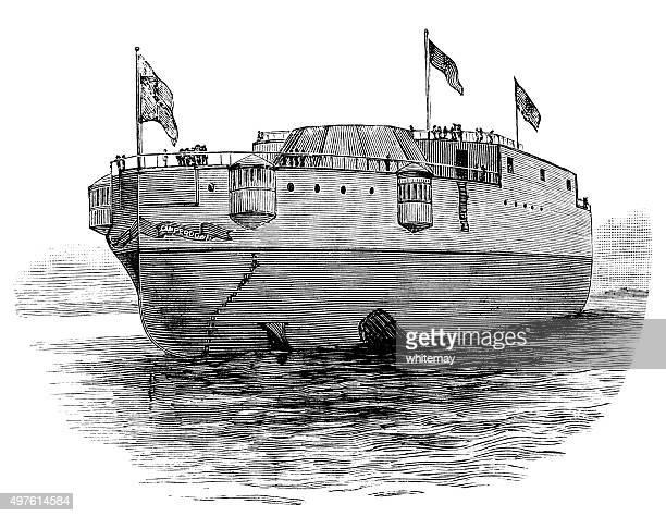 Navy training ship (Victorian engraving)