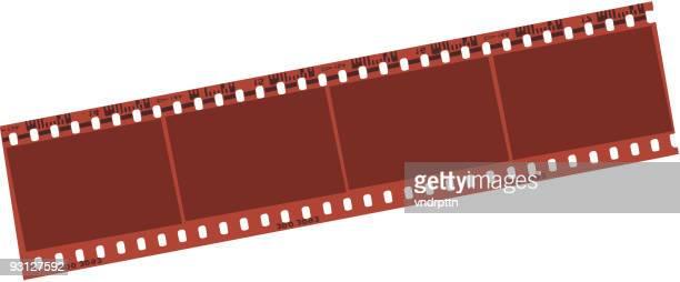 ilustraciones, imágenes clip art, dibujos animados e iconos de stock de negativo tira de ilustración vectorial - rollo de cine
