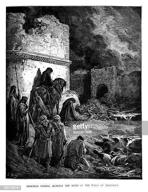 Nehemiah viewing the ruins
