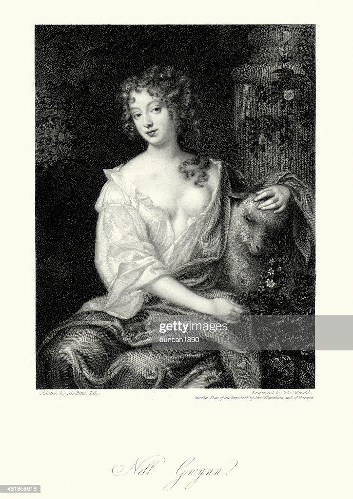 Nell Gwyn : stock illustration