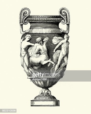 Neo Classical Style Mid Victorian Vase Stock Illustration Getty Images
