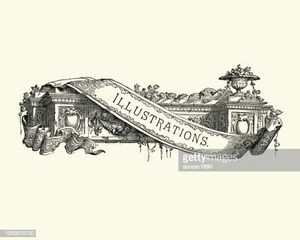Neo classical style title banner, Illustrations, 19th Century
