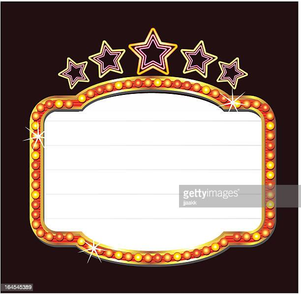 neon blank with stars - entrance stock illustrations, clip art, cartoons, & icons