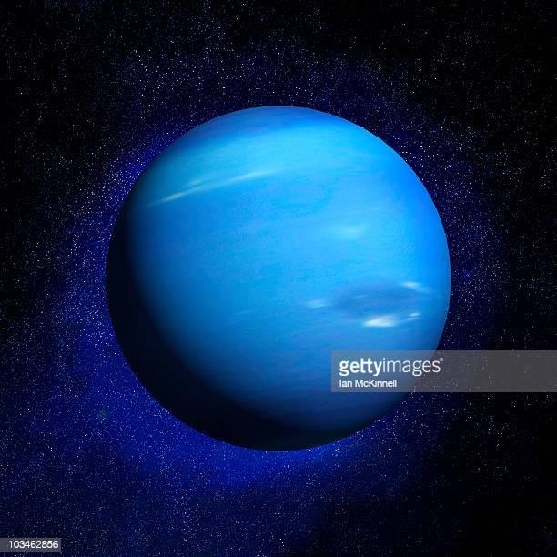 neptune & stars - neptune planet stock illustrations