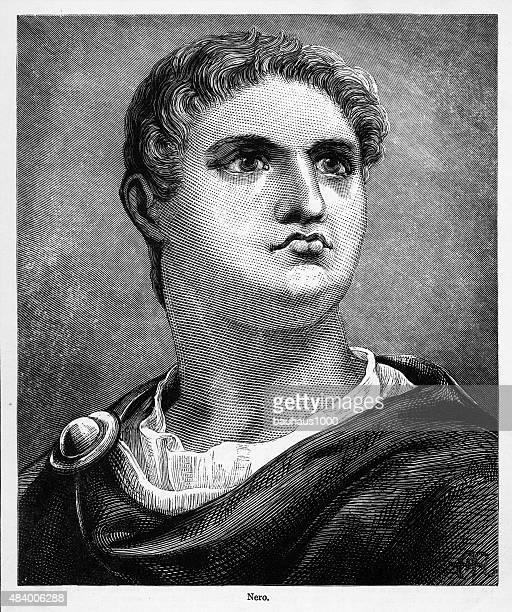 nero, 37-68 a.d. engraving - emperor stock illustrations, clip art, cartoons, & icons