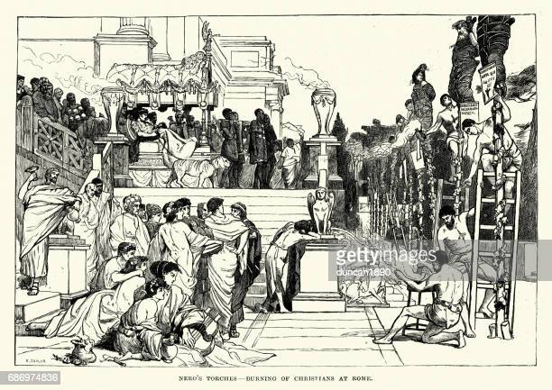 Nero, Burning of Christians at Rome
